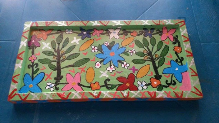 Breakfast tray made by arts collective